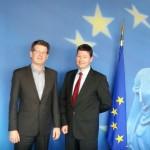 Gespräch zwischen Prof. Selmayr (EU-Kommission) und Nico Kern (Piratenfraktion NRW)